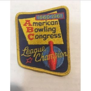 Vtg 1960-61 Collectible Bowling Patch